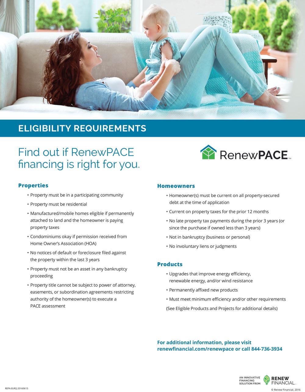 Renew Financing Flyer