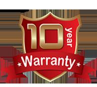 10 year Labor Warranty Seal